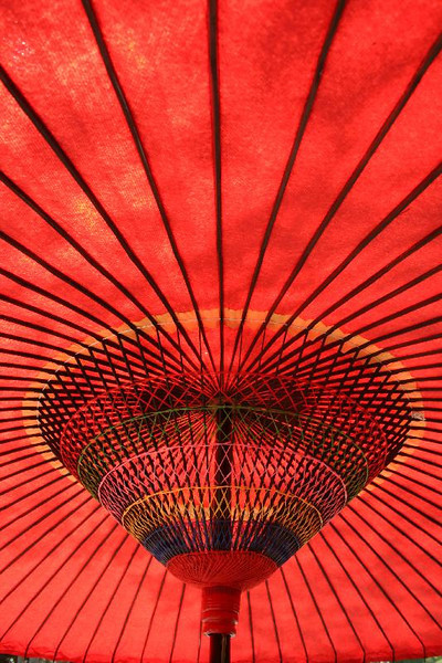 Temple umbrella in Kamakura.