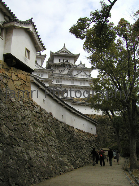 Approaching the Main Castle, Himeji, Hyogo-ken, Japan