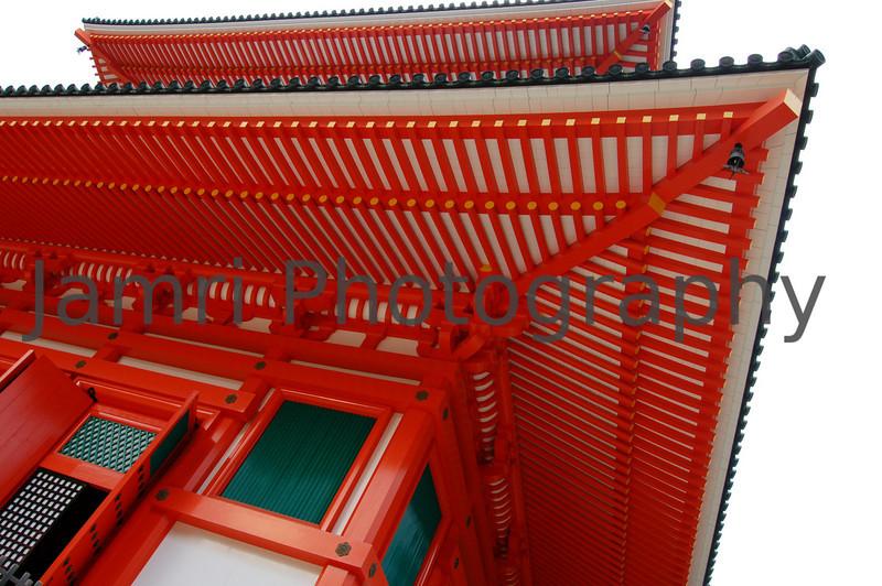 Striking Temple, Koya-san, Wakayama-ken, Japan