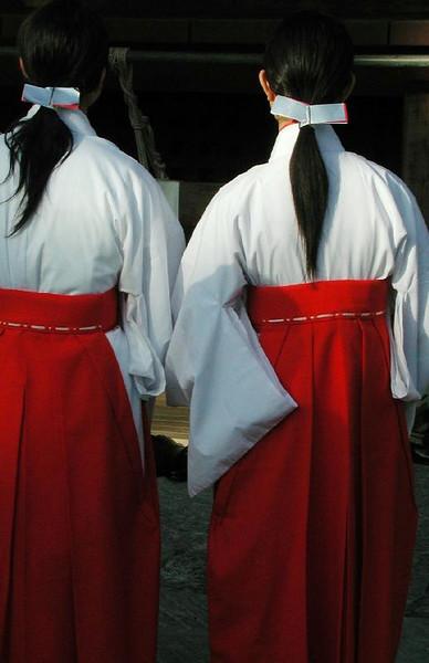 Shinto maidens.