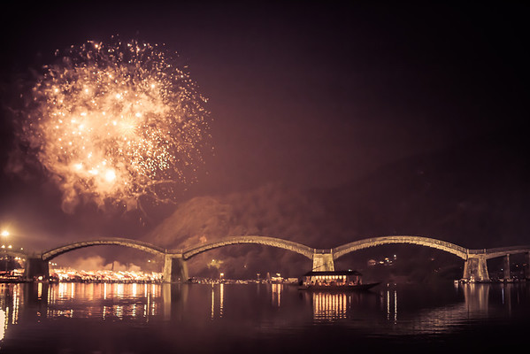 Water Festival, Kintai bridge, Iwakuni Japan