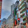 View down a main street in Ikebukuro, Tokyo
