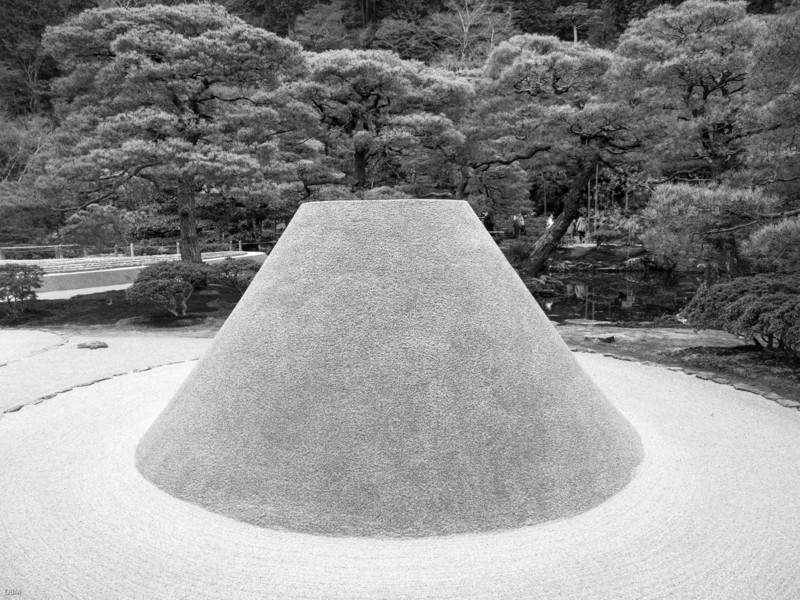This and the next few: Ginkakuji temple zen gardens.