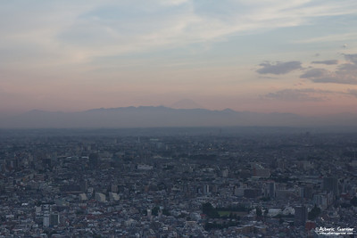 Mt Fuji from Tokyo Metropolitan Government Building, Japan
