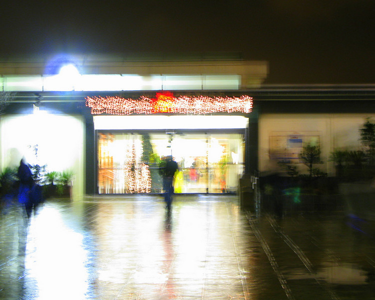 Japantown mall, San Francisco (2 sec. exposure)