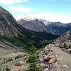Backward look on the Mt. Edith Cavell trail.