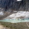 Edith Cavell Glacier and small frozen lake