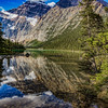 Reflection of Mount Edith Cavell - Jasper national Park Canada
