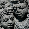 Prambanan's Hindu faces look like Borobudur's Buddhist faces.