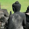 One of 504 stone Buddhas at Borobudur.