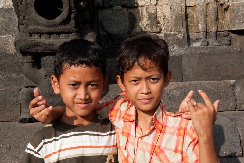 Kids at Borobudur