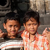 Kids at Borobudur