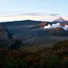 Mount Bromo, Mount Semeru and Mount Batok just after sunrise, Java