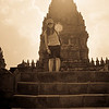 Sally posing at Prambanan