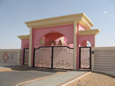 The gates to the Barbie house.