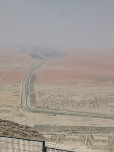 View from the road up Jebel Hafeet which rises just over 1,000 metres.