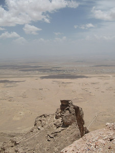 From the top of Jebel Hafeet.  We're right up in the clouds.