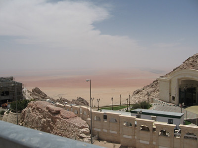 The entrance to the Sheikh Kalifa's weekend bach and the plain beyond.