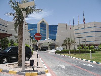 The entrance to the hotel at the summit of Jebel Hafeet ('jebel' or 'jabal' means mountain in Arabic).