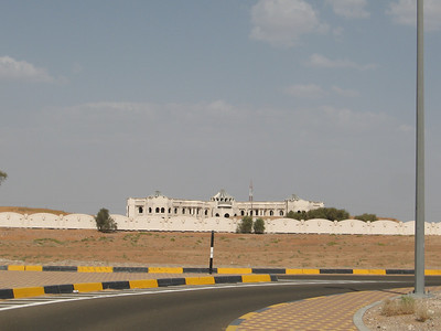 Down on the plain in Al Ain.  This huge house remains unfinished, as there was some political infighting.  It even has its own mosque.