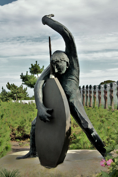 Sculpture at the herb farm.