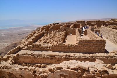 the Masada grain storage area