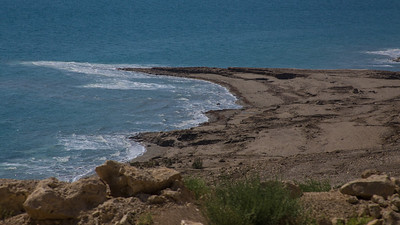 the Dead Sea down several hundred feet of lost water