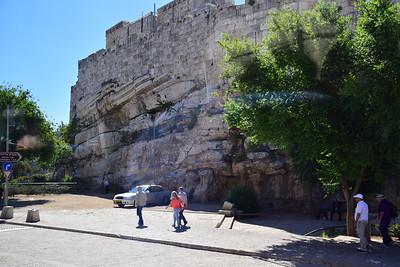 the walls of old Jerusalem