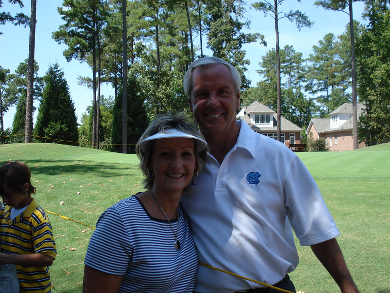 Raye with her favorite basketball coach, Roy Williams - Head Coach of the University of North Carolina TARHEELS!!