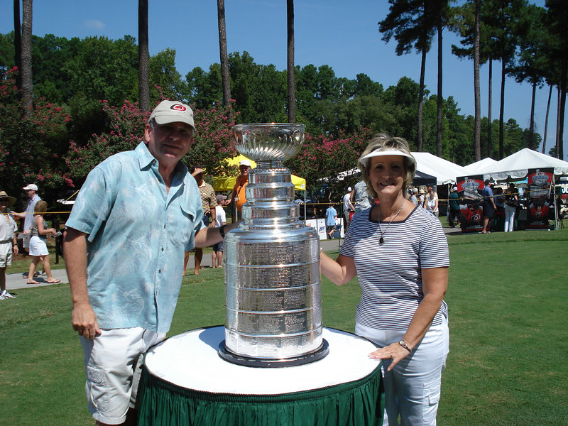 Joe & Raye with THE STANLEY CUP -- Go Hurricanes!!
