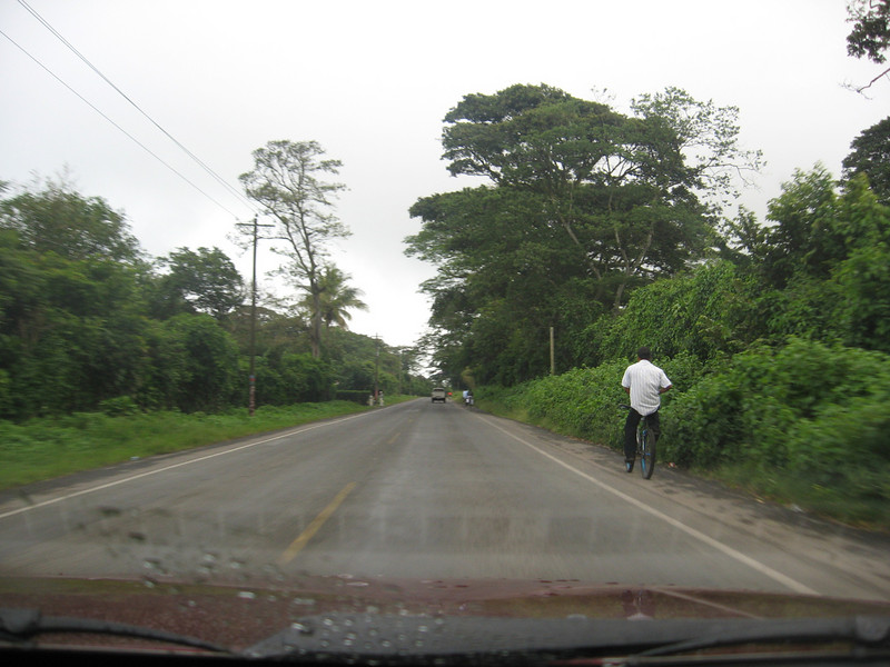 Lush vegetation, on our way to  Jinotepe