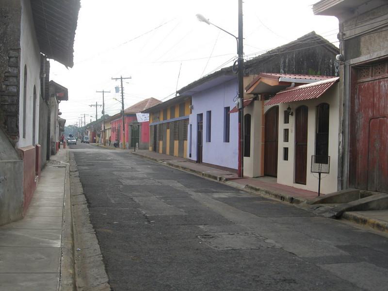 quiet typical street.