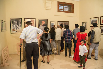 Photo viewing gallery at Umaid Bhawan Palace Museum. Built by Maharaja Umaid Singh, construction  was completed in 1943.