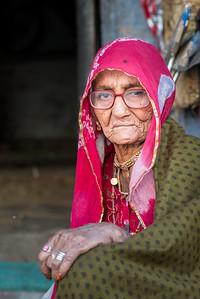 Old lady at Jodhpur, Rajasthan, India
