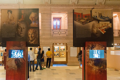 Visitors to Umaid Bhawan Palace Museum. Built by Maharaja Umaid Singh, construction  was completed in 1943.