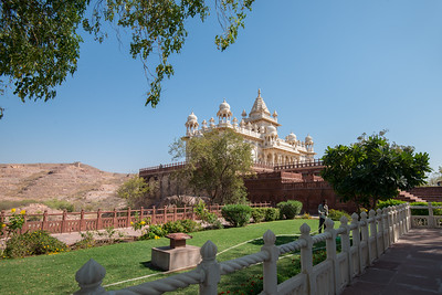 Low angle view of a temple, Jaswant Thada, Jodhpur, Rajasthan, India