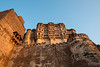 Setting Sun evening yellow light on Mehrangarh Fort, Jodhpur, Rajasthan, India.