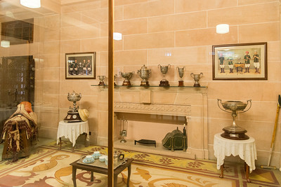 Umaid Bhawan Palace Museum. Built by Maharaja Umaid Singh, construction  was completed in 1943. Glass, porcelain wares, memorabilia, and information on the building of the palace are part of the exhibits.