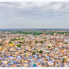 Jodhpur (The Blue City) - Clock Tower and Umaid Bhawan Palace can also be seen  - HDR Image