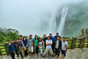 The group poses in front of Jog Falls - or what little was visible of it :)