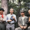 Photo was taken somewhere along the Appalachian trail near the peaks of otter fourth of July weekend 1964.  Left to right David Cassell, John Stuart Mullins, Sneed  Adams and Robert Mallis