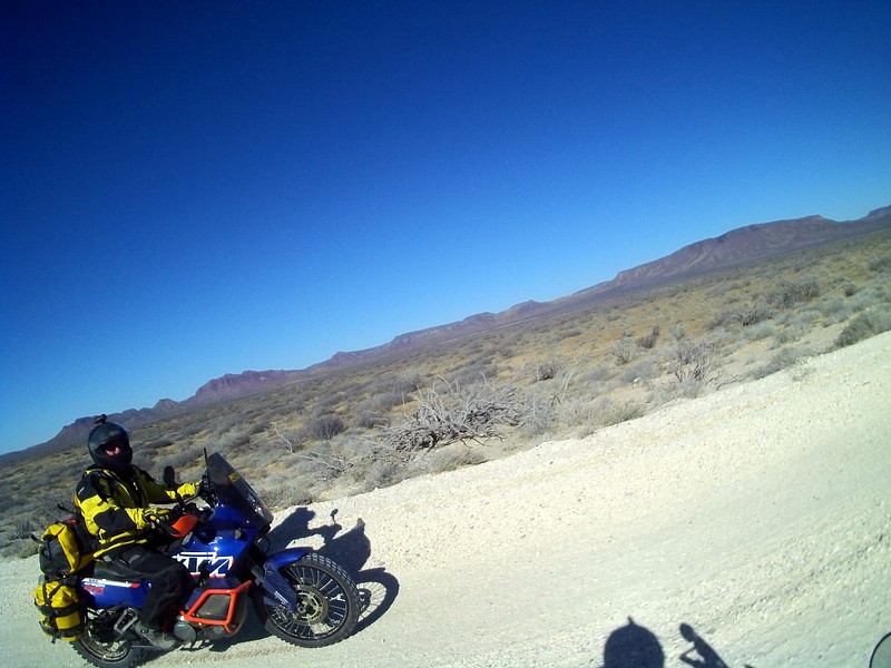 The beach road to La Bocana