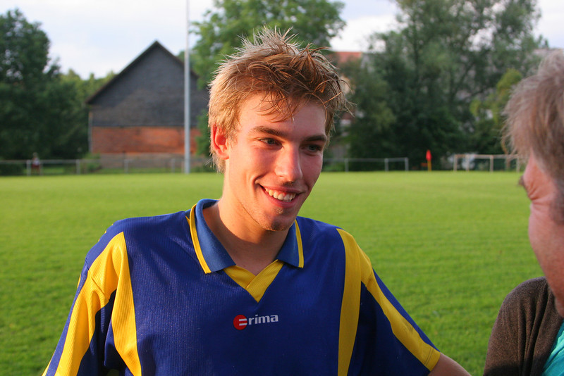 The happy goal-scorer