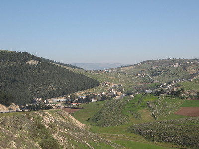 Countryside between Amman and Jerash.