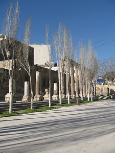 The colonade outside the amphitheatre in Amman.