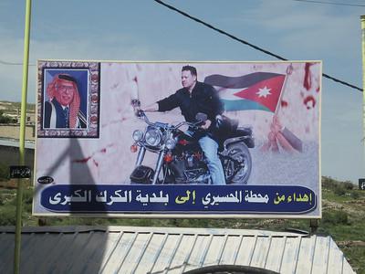 Poster of King Abdullah.