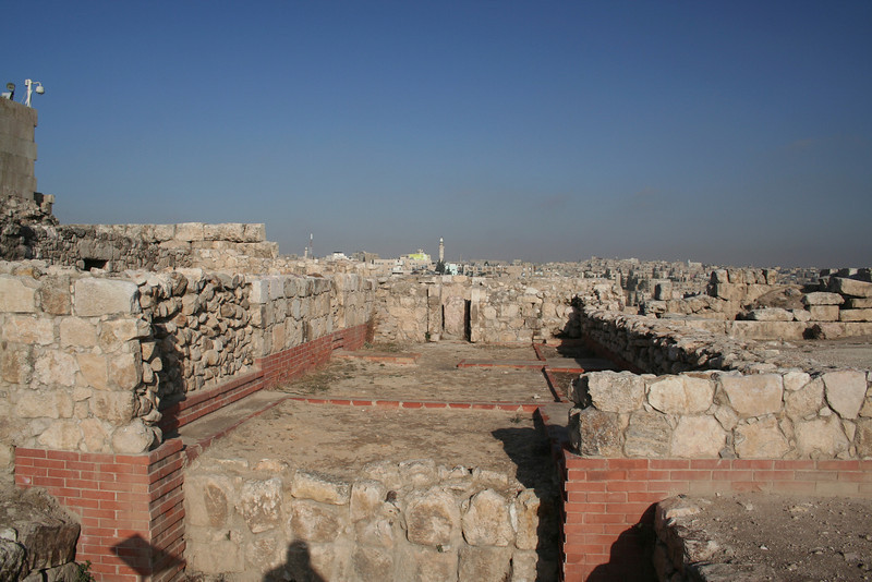 Remains of the residences and administrative buildings at the citadel