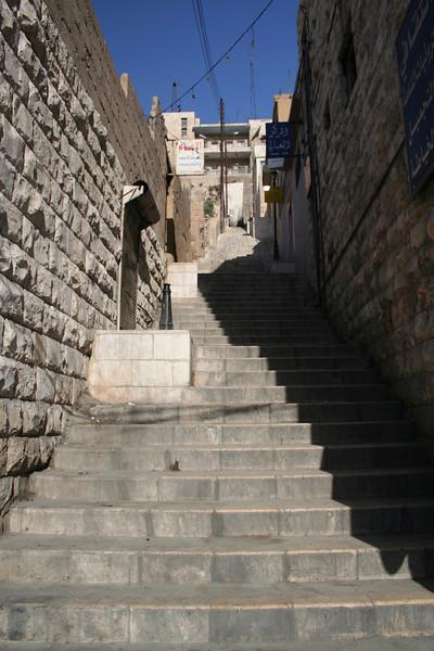 Steps going up Jebel al Qala'a