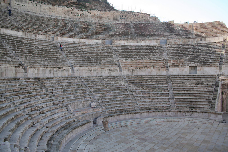 At the first level of the theater: This is the view that the Royal family had.