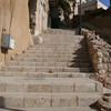 Steps coming down Jebel al Qala'a.